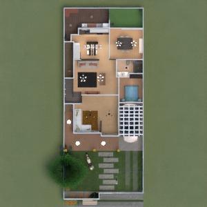 floorplans house terrace furniture bathroom bedroom living room garage kitchen dining room architecture 3d