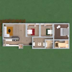 planos apartamento muebles decoración dormitorio salón habitación infantil arquitectura 3d