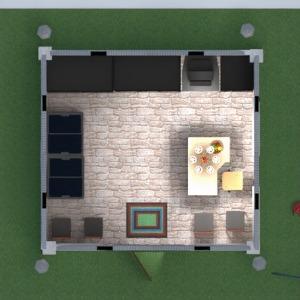 planos exterior paisaje cafetería comedor estudio 3d