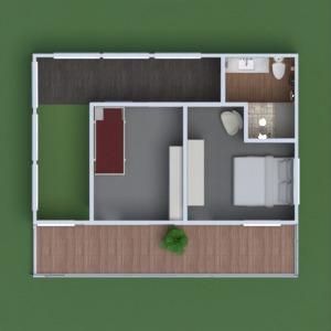 floorplans casa varanda inferior mobílias decoração casa de banho dormitório quarto cozinha área externa iluminação paisagismo utensílios domésticos 3d