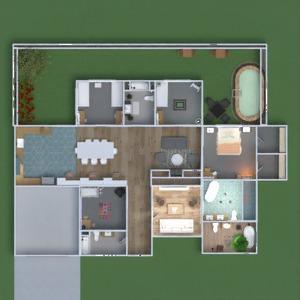 floorplans casa área externa 3d
