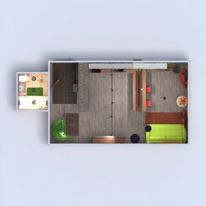 floorplans butas baldai dekoras pasidaryk pats vonia miegamasis svetainė virtuvė apšvietimas renovacija 3d