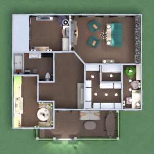 planos apartamento casa muebles decoración cocina 3d