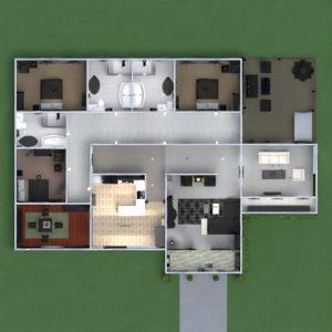планировки дом мебель декор 3d