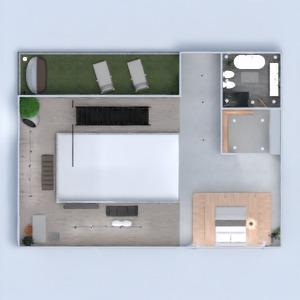 planos casa terraza muebles decoración arquitectura 3d