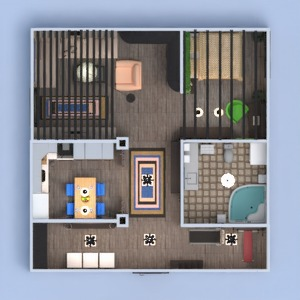 floorplans apartment furniture decor bedroom kitchen 3d