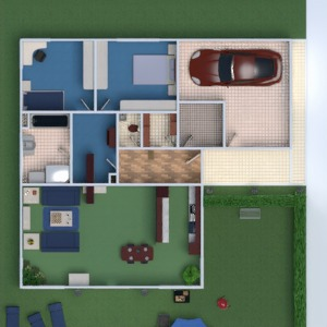 floorplans maison garage 3d