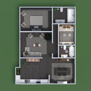 floorplans butas dekoras vonia svetainė virtuvė renovacija аrchitektūra 3d