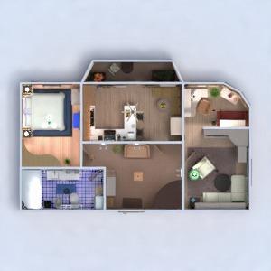 floorplans apartment furniture decor bathroom bedroom living room office 3d