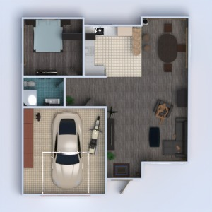 floorplans house garage 3d