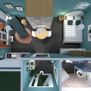 floorplans mieszkanie meble sypialnia pokój dzienny architektura 3d