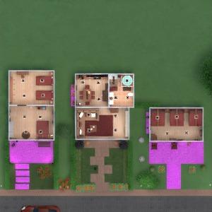 floorplans butas namas terasa baldai vonia miegamasis virtuvė eksterjeras apšvietimas namų apyvoka valgomasis 3d