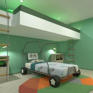 floorplans meubles décoration chambre d'enfant eclairage 3d
