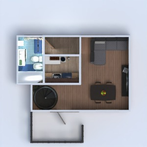 planos casa decoración cuarto de baño dormitorio salón cocina habitación infantil descansillo 3d