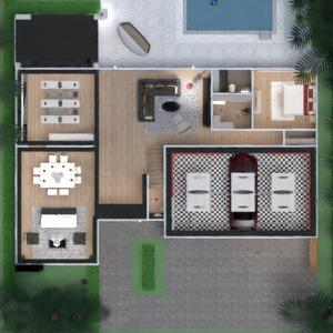 planos casa decoración salón cocina exterior arquitectura 3d