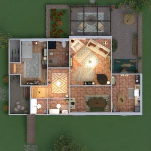 planos casa muebles decoración dormitorio salón 3d