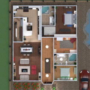 floorplans house bathroom bedroom living room kitchen kids room household dining room 3d