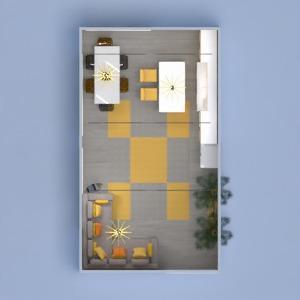 planos salón cocina iluminación comedor estudio 3d