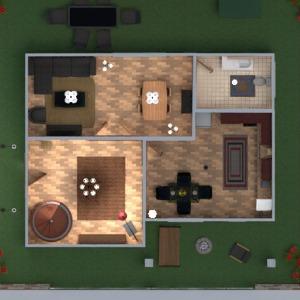 floorplans maison terrasse meubles décoration salle de bains chambre à coucher salon cuisine extérieur eclairage entrée 3d