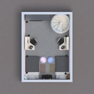 floorplans butas baldai dekoras miegamasis vaikų kambarys 3d