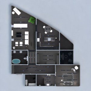 floorplans apartment terrace furniture decor bathroom bedroom living room kitchen lighting household storage studio entryway 3d