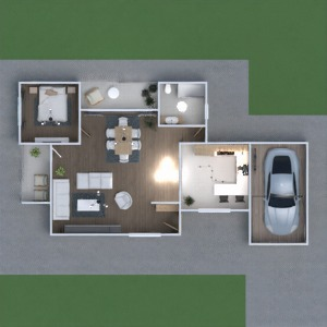 floorplans casa dormitório área externa utensílios domésticos 3d