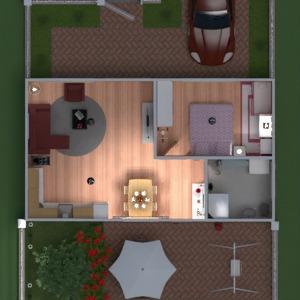 floorplans maison meubles garage cuisine extérieur chambre d'enfant salle à manger entrée 3d