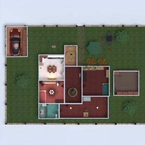 floorplans namas miegamasis garažas virtuvė eksterjeras 3d