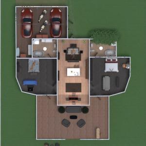 floorplans apartment house terrace furniture bedroom living room garage outdoor lighting dining room entryway 3d