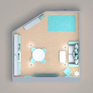 floorplans apartamento decoração quarto cozinha sala de jantar 3d