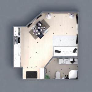 floorplans apartment furniture decor bathroom living room kitchen lighting storage studio 3d