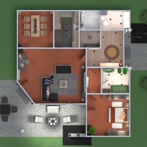 floorplans apartment house terrace furniture decor bathroom bedroom living room kitchen outdoor lighting dining room architecture entryway 3d