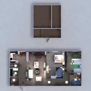 floorplans apartamento muebles cuarto de baño dormitorio salón cocina habitación infantil iluminación hogar trastero descansillo 3d