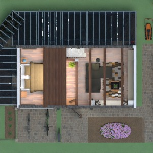 floorplans house terrace kitchen landscape 3d