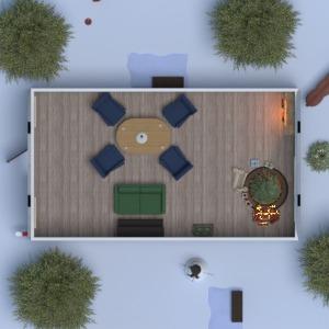 floorplans house furniture landscape household dining room 3d