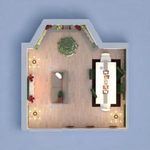 floorplans pokój dzienny jadalnia 3d