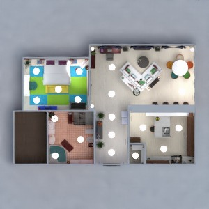 floorplans apartment decor bedroom 3d