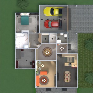floorplans butas namas terasa vonia miegamasis svetainė garažas virtuvė eksterjeras vaikų kambarys valgomasis аrchitektūra prieškambaris 3d