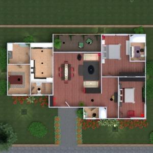 floorplans house terrace furniture decor bathroom bedroom kitchen outdoor lighting landscape household 3d
