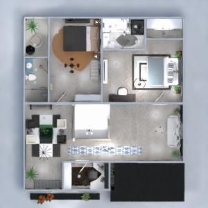 floorplans namas miegamasis svetainė virtuvė 3d