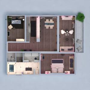 floorplans wohnung mobiliar badezimmer wohnzimmer küche 3d