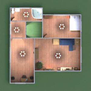 floorplans namas dekoras vonia miegamasis svetainė 3d