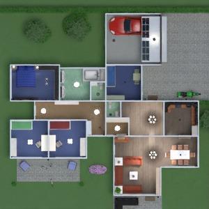 floorplans mieszkanie dom taras kuchnia pokój diecięcy 3d