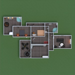 floorplans house furniture decor bathroom bedroom living room kitchen kids room office household dining room 3d