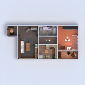 floorplans apartment house furniture decor bathroom bedroom living room kitchen entryway 3d