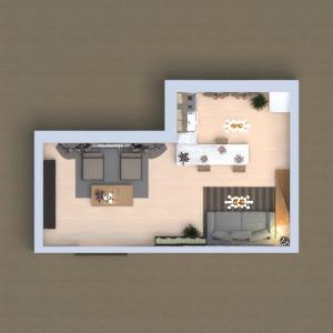 планировки мебель декор гостиная кухня архитектура 3d