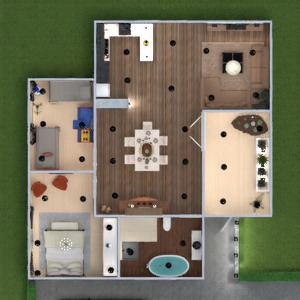 floorplans apartment furniture decor bathroom living room lighting dining room 3d