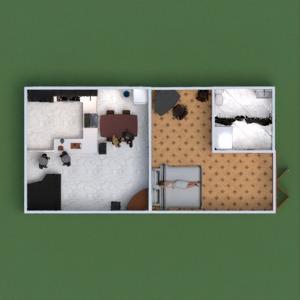 floorplans butas dekoras vonia miegamasis svetainė virtuvė kraštovaizdis 3d