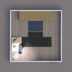 floorplans baldai dekoras miegamasis vaikų kambarys 3d