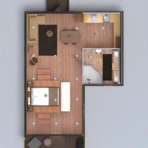 planos casa terraza cuarto de baño dormitorio cocina 3d